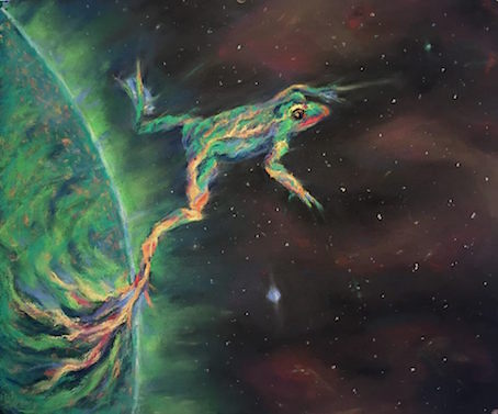Pastel on paper, 50 / 40 cm, image references via Nasa's Solar Dynamics Observatory and Spaceweatherlive.com